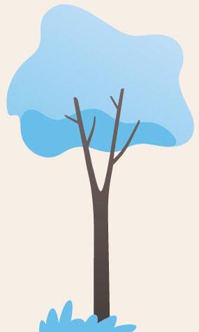 arbreBleuFondBeige